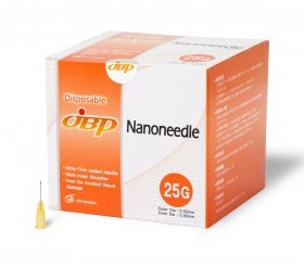 JBP Nanoneedle 25G 25mm Regular (100 UTW needles)