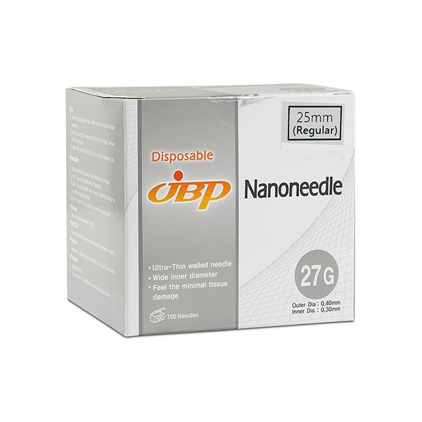 JBP Nanoneedle 27G 25mm Regular (100 UTW needles)
