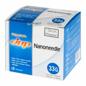 JBP Nanoneedle 33G 4mm Regular (100 UTW needles)