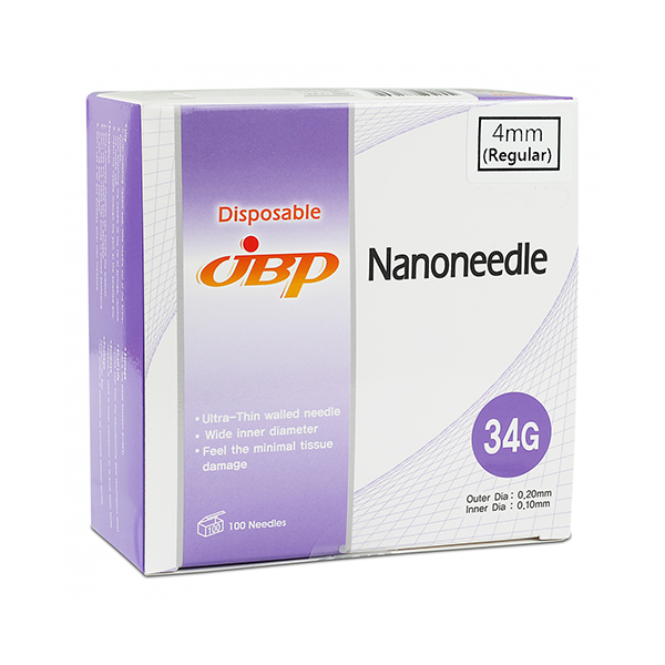 JBP Nanoneedle 34G 4mm Regular (100 UTW needles)
